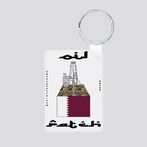 Qatar Oil Patch 2a BC use  Aluminum Photo Keychain