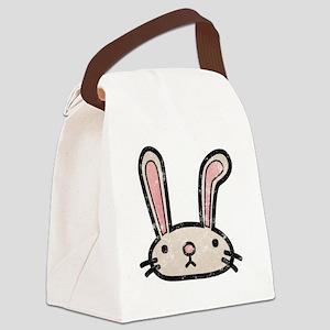 Bunny Ears -dk Canvas Lunch Bag