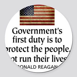 Governments first duty Round Car Magnet