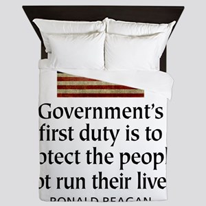 Governments first duty Queen Duvet