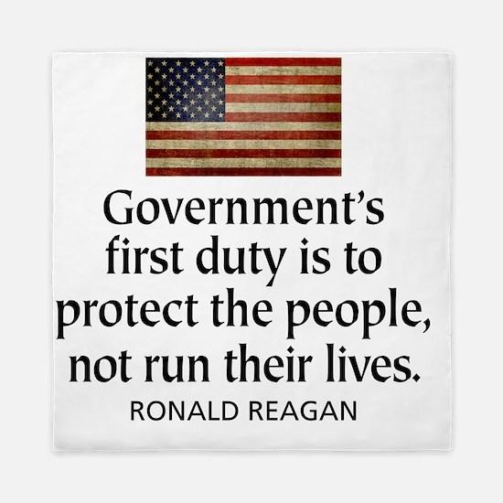 Governments first duty Queen Duvet