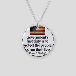 Governments first duty Necklace Circle Charm