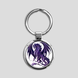 Draconis Nox Dragon Round Keychain