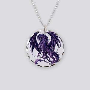 Draconis Nox Dragon Necklace Circle Charm