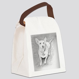 2-Chihuahuasized Canvas Lunch Bag