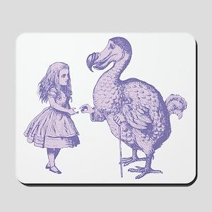 Alice and Dodo Lavender Mousepad