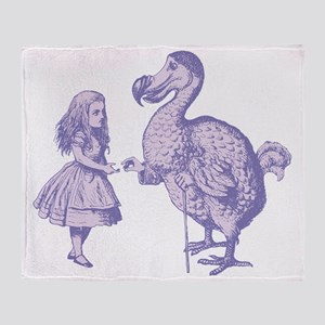 Alice and Dodo Lavender Throw Blanket