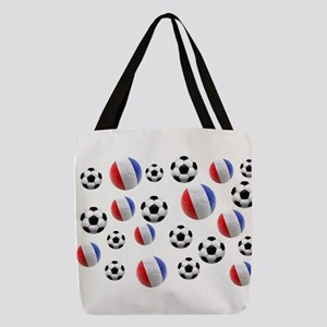 France Soccer Balls Polyester Tote Bag