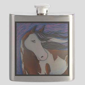 Paint Horse Luna Flask