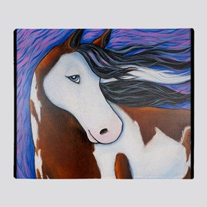 Paint Horse Luna Throw Blanket