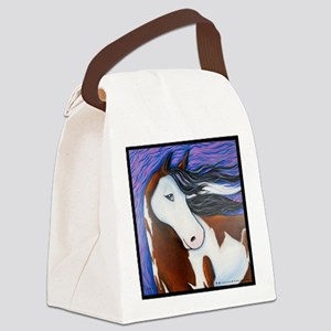 Paint Horse Luna Canvas Lunch Bag