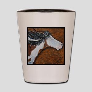 Paint Horse Golden Luna Shot Glass