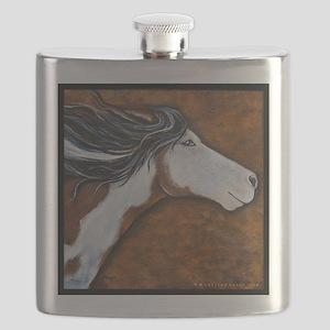 Paint Horse Golden Luna Flask