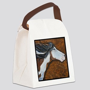 Paint Horse Golden Luna Canvas Lunch Bag