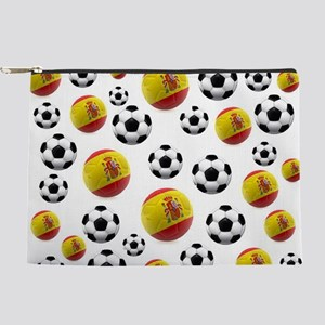 Spain Soccer Balls Makeup Pouch