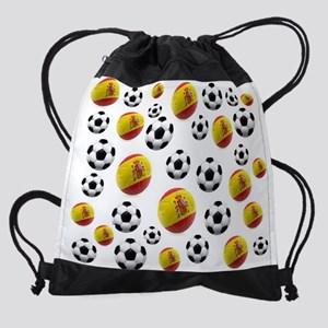 Spain Soccer Balls Drawstring Bag