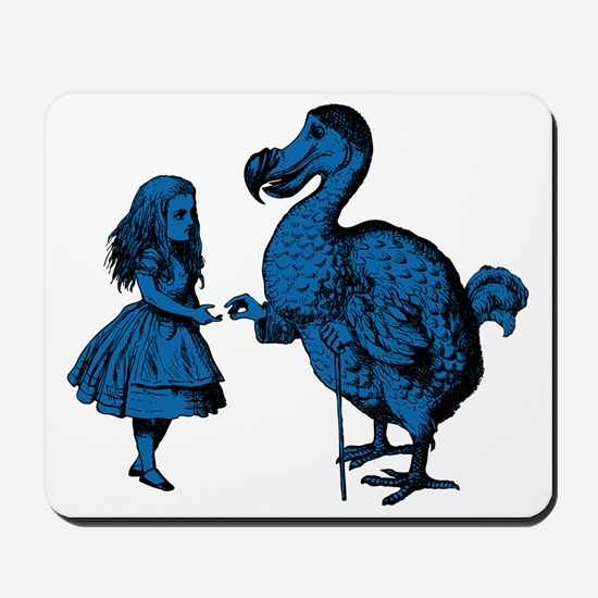 Alice and Dodo Blue Fill Mousepad