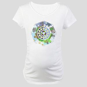 WholeColoredWheel Maternity T-Shirt