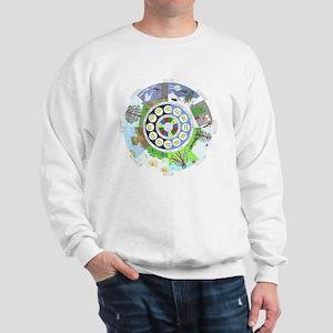 WholeColoredWheel Sweatshirt