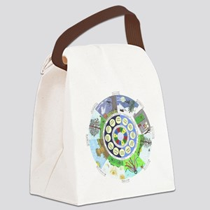WholeColoredWheel Canvas Lunch Bag