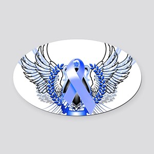 Awareness Tribal Blue Oval Car Magnet