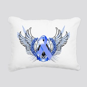 Awareness Tribal Blue Rectangular Canvas Pillow
