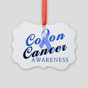 Colon Cancer Awareness Picture Ornament