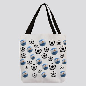 Argentina Soccer Balls Polyester Tote Bag