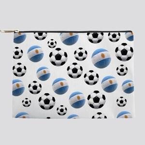 Argentina Soccer Balls Makeup Pouch