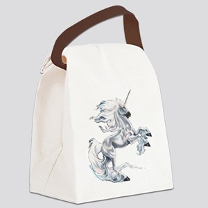 Ruth Thompsons White Unicorn Canvas Lunch Bag