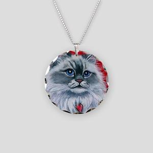 Ragdoll Cat Mia Necklace Circle Charm