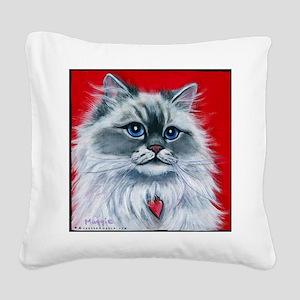Ragdoll Cat Mia Square Canvas Pillow