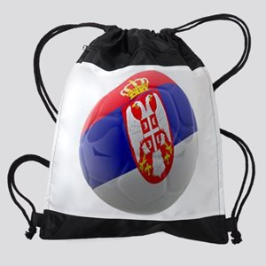 Serbia World Cup Ball Drawstring Bag