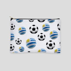 Uruguay Soccer Balls Makeup Pouch