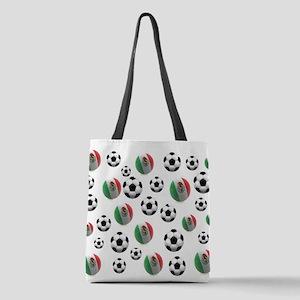 Mexico Soccer Balls Polyester Tote Bag