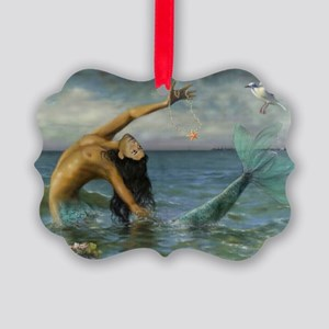 Merman_Birthday_Gift Picture Ornament