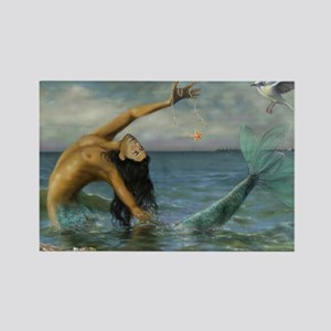 Merman_Birthday_Gift Rectangle Magnet
