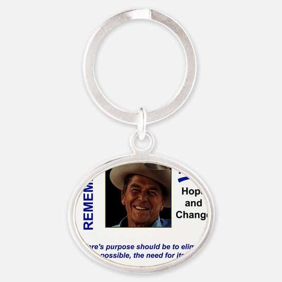 Reagan_Real_Hope_2 Oval Keychain