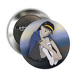 Winking Schoolgirl Button