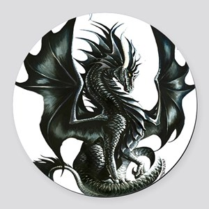 Ruth Thompsons Obsidian Dragon Round Car Magnet