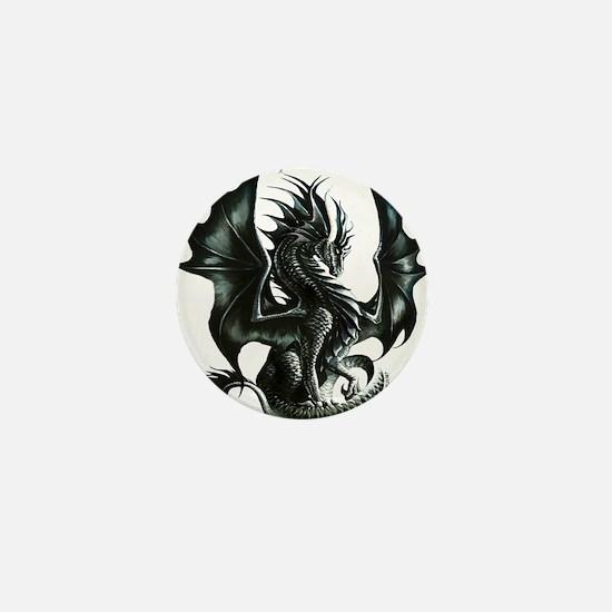 Ruth Thompsons Obsidian Dragon Mini Button