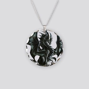 Ruth Thompsons Obsidian Drag Necklace Circle Charm