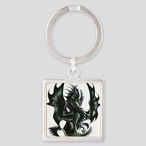 Ruth Thompsons Obsidian Dragon Square Keychain