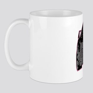 Evo - X - Black Design - Pink Outline Mug