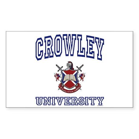 CROWLEY University Rectangle Sticker