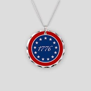 btn-patriot-1776-13stars Necklace Circle Charm