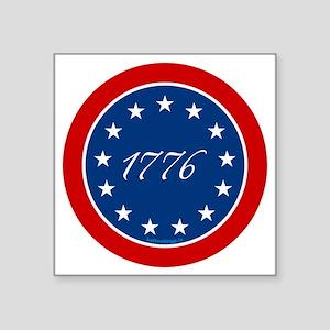 "btn-patriot-1776-13stars Square Sticker 3"" x 3"""