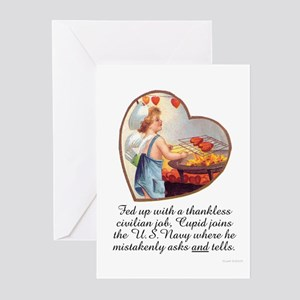 Valentine Navy Greeting Cards (Pk of 10)