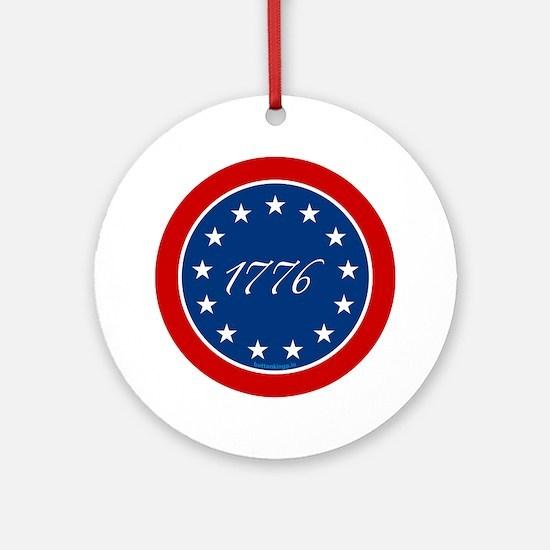 btn-patriot-1776-13stars Round Ornament