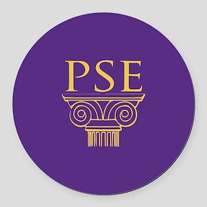 Pi Sigma Epsilon Crest Round Car Magnet